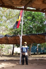 Welcome to Gan Gan: Meeting place and Aboriginal flag