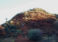 The climb at the beginning of the Kings Canyon walk
