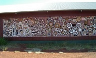 Mural at Warlayirti Art Centre, Balgo