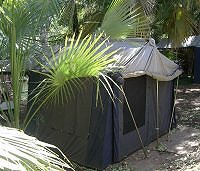 Tent accommodation at Adels Grove