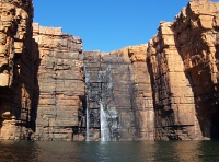 Right-hand waterfall, King George Falls