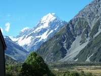 Mt Cook view from Hermitage