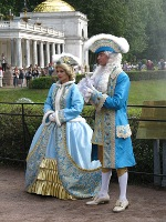 Period costumes, Peterhof Palace