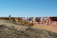 Ochre cliffs