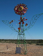 Sculpture garden on Oodnadatta Track
