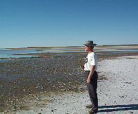 Eric at the edge of Lake Eyre South