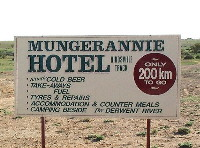 Mungerannie Hotel sign