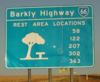 Distances to rest areas on Barkly Highway