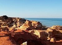 Rock formations at Gantheaume Point, Broome