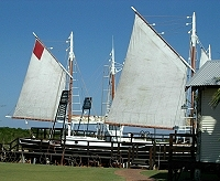Restored pearling luggers at Broome