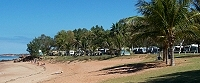 Town Beach and caravan park, Broome