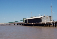 High tide, Derby jetty and bulk ore loading facility