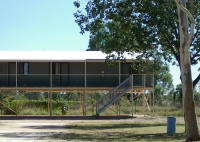 Motel units at Tarunda caravan park, Fitzroy Crossing