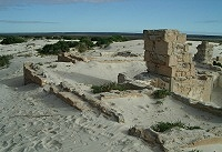 Ruins of old Eucla telegraph station
