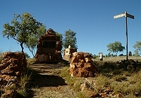 Ruins and memorials at Old Halls Creek