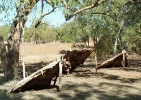 "Aboriginal shelters, ""gunyas"" or ""wurlies"""