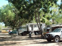 Campground at Mataranka Homestead