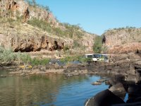 Tour boat and canoes, Katherine Gorge